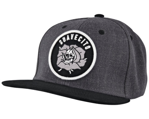 Charcoal Hat With Killer Rose Logo Patch - Angled