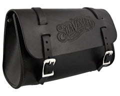Leather Biker Bag Angled View