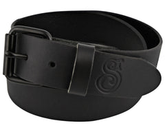 Black OG Script Leather Belt