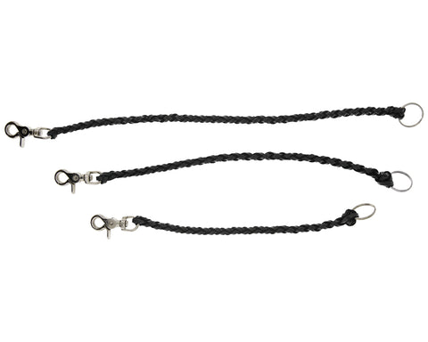 Leather Wallet Chain - Black - All