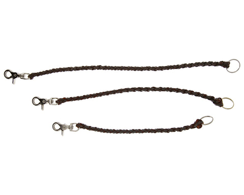 Leather Wallet Chain - Antique Brown - All