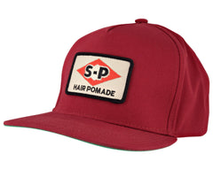 Red Hat With Motor Oil Patch - Angled