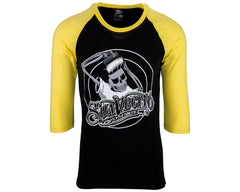 OG Baseball Tee - Black & Yellow - Front