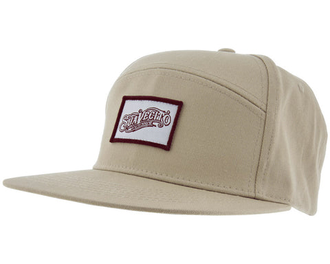 Khaki Hat With OG Script Mini Patch - Angled