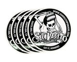 Suavecito B&W Top Logo Stickers 5 Pack