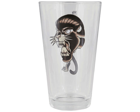 Suavecito Panther Pint Glass Panther Head Side