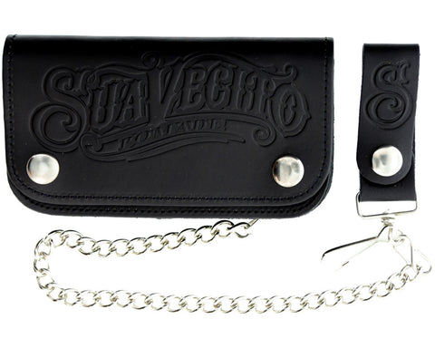 OG Script Chained Biker Wallet - Black - Front