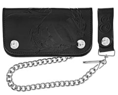 Black Skeleton Chained Biker Wallet