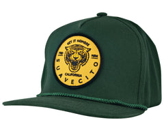 Green Tiger Hat - Angled