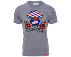 Barber Shop Crossbones Tee - Front