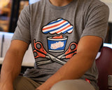Barber Shop Crossbones Tee - Lifestyle