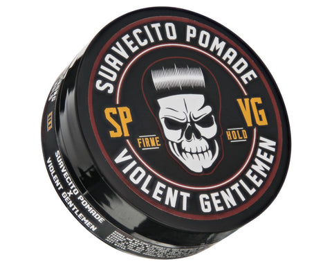 Suavecito X Violent Gentlemen Firme (Strong) Hold Pomade - Angled