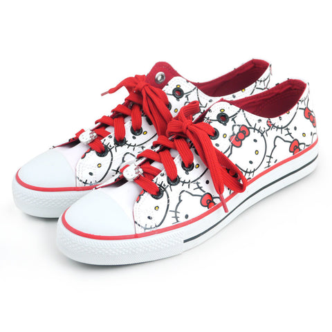 Picture of Hello Kitty Shoes: Faces/White W8