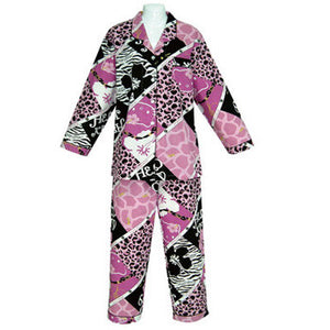 Hello Kitty Pajamas: Purple Leopard Print