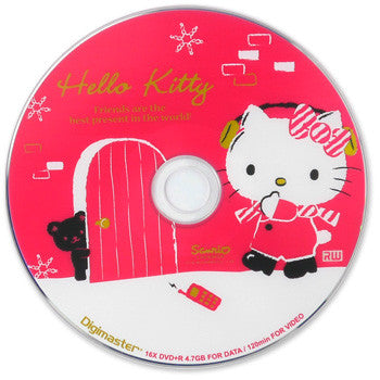 Picture of Hello Kitty 25-Pack 16x DVD+R Disc Spindle: Christmas