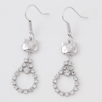 Picture of Hello Kitty Crystal Loop Earrings