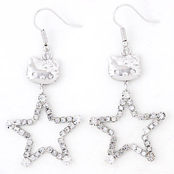 Picture of Hello Kitty Crystal Star Earrings