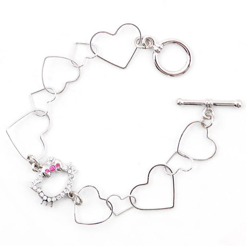 Picture of Hello Kitty Heart Link Bracelet