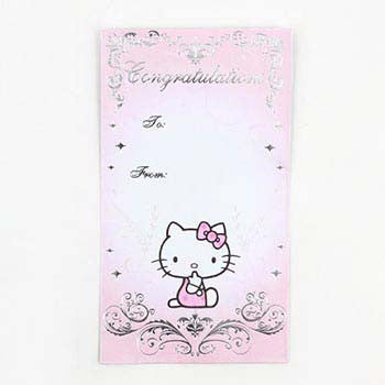 Picture of Hello Kitty Wedding Envelope: Pink/Silver