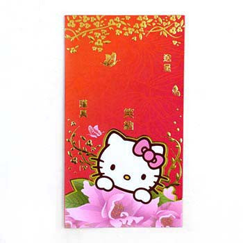 Picture of Hello Kitty Wedding Envelope: Red/ Gold