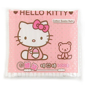 Picture of Hello Kitty With Bear Cotton Swabs: 100 Pack