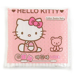 Hello Kitty With Bear Cotton Swabs: 100 Pack