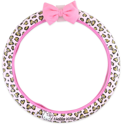 Picture of Hello Kitty Steering Wheel Cover: Pink Leopard