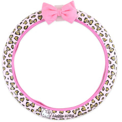 Hello Kitty Steering Wheel Cover: Pink Leopard