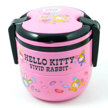 Picture of Hello Kitty Tiffin Lunch Box: Candy Pink