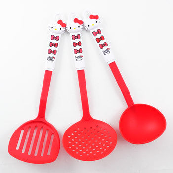 Picture of Hello Kitty 3 Piece Ladle & Turner Set: Red