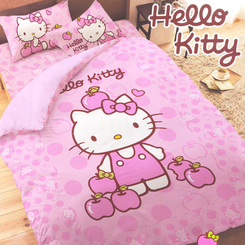 Picture of Hello Kitty 3 Piece Single Bedding Set: Apples