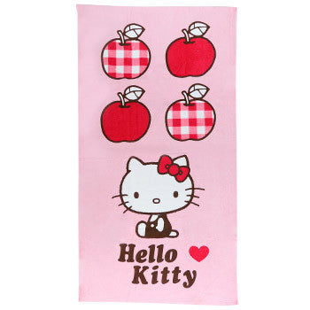 Picture of Hello Kitty Bath Towel: Gingham Apples