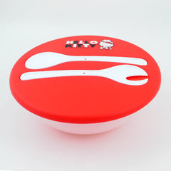 Hello Kitty Lunch Box/Serving Spoons: Red