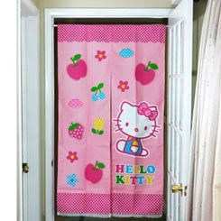 Picture of Hello Kitty Door Curtain: Apple