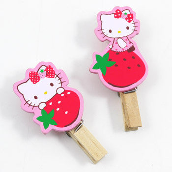Picture of Hello Kitty Multipurpose Clips: Strawberry