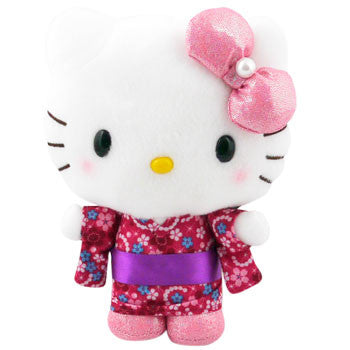 Picture of Hello Kitty Kimono Plush: Pink Bow