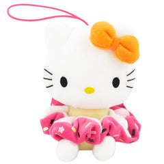 Hello Kitty Plush Hairband Holder: Orange Bow