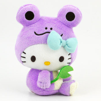 Picture of Hello Kitty Plush: Purple Frog