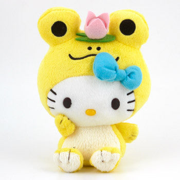 Picture of Hello Kitty Plush: Yellow Frog