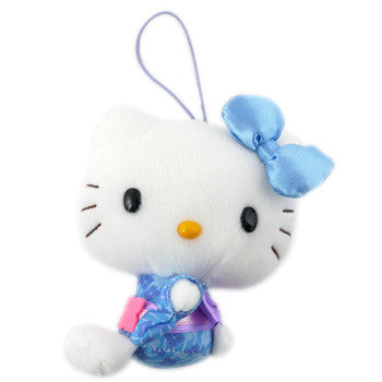 Picture of Hello Kitty Plush: Blue Kimono/ Blue Bow