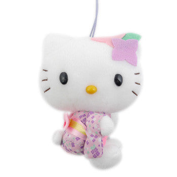 Picture of Hello Kitty Plush: Flowers/Purple With Yellow Sash