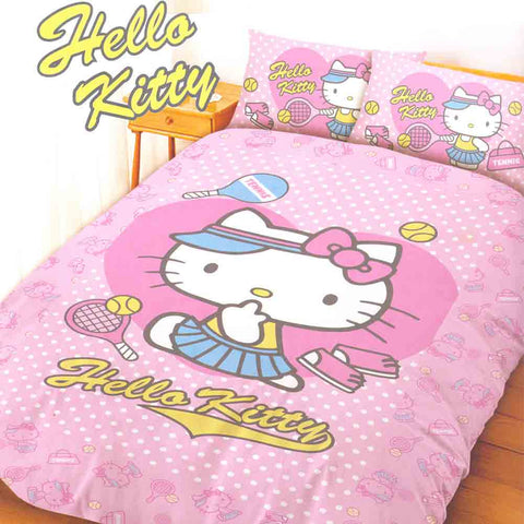 Picture of Hello Kitty 4 Piece Double Bedding Set: Tennis