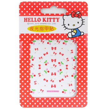 Picture of Hello Kitty Nail Decal Stickers: Cherries & Bows