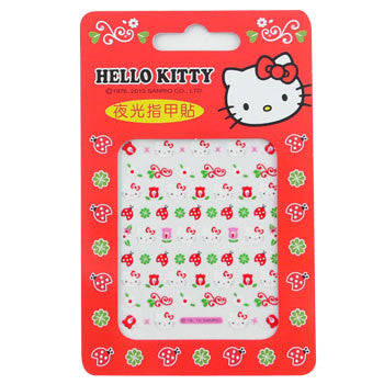 Picture of Hello Kitty Nail Decal Stickers: Ladybugs, Flowers & Clover