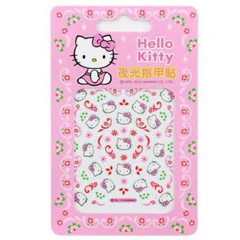 Picture of Hello Kitty Nail Decal Stickers: Flower Motifs