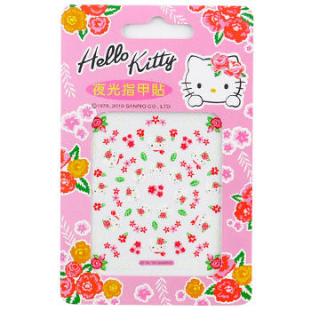 Picture of Hello Kitty Nail Decal Stickers: Roses & Leaves