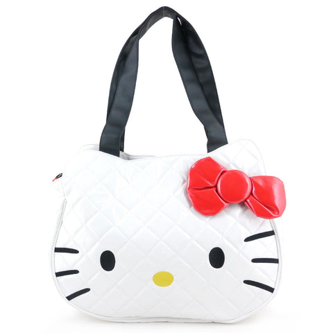 Picture of Hello Kitty Bag: White Quilted Face Tote Bag