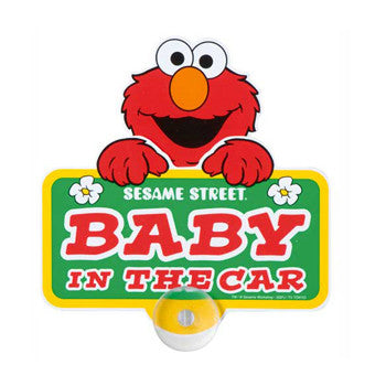 Picture of Elmo Baby in the Car Sign