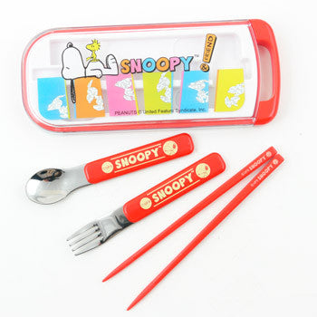 Picture of Snoopy Cutlery Set: Red