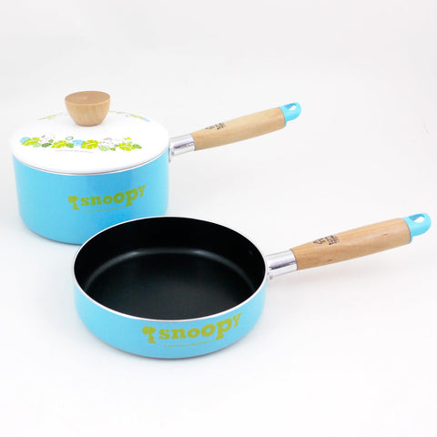 Picture of Snoopy Fry Pan & Pot Set